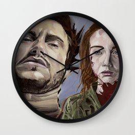 Abigail and Will 2., acrylic painting Wall Clock