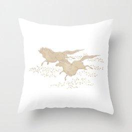 Bracquemond Horses 1875 Throw Pillow