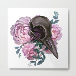 Skull and roses Metal Print