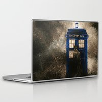 dr who Laptop & iPad Skins featuring Dr. Who by Redeemed Ink by - Kagan Masters
