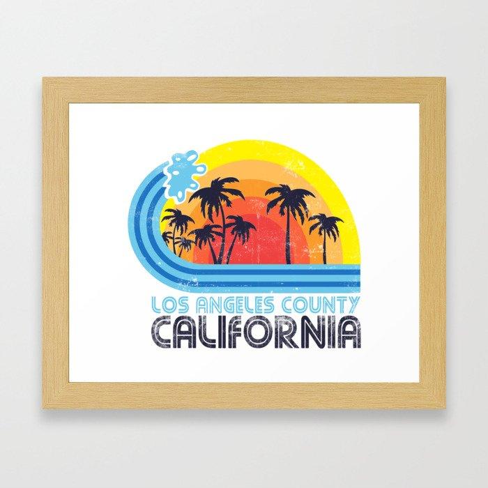 Los Angeles California Vintage Framed Art Print