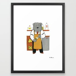 Sharpei Mixologist (Dogs with Jobs series) Framed Art Print