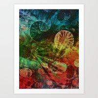 secret life Art Prints featuring The Secret Life of Plankton by Klara Acel