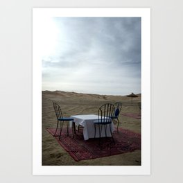 Travel: Morocco Lunch Art Print