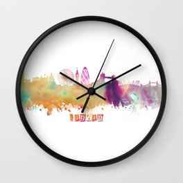 London Skyline #london #skyline Wall Clock
