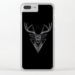 Dark Deer Clear iPhone Case