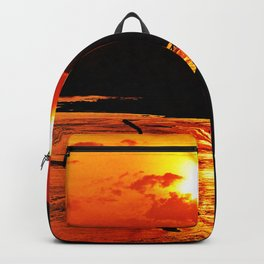 African River Sunset Backpack
