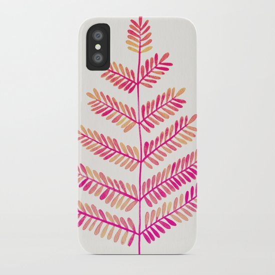 Leaflets – Pink Ombré Palette iPhone Case