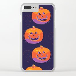 pumpkin with halloween Clear iPhone Case