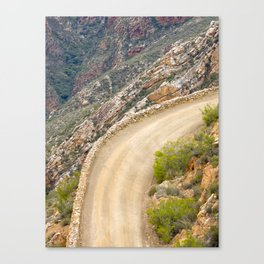 Tight bend in the Swartberg Pass in South Africa - Portrait Canvas Print