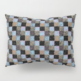 Rustic Brown Multicolored Black Patchwork Pillow Sham
