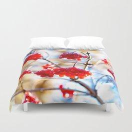 Arrowwood Berries Duvet Cover