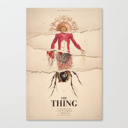 The Thing Alternative Film Poster Canvas Print