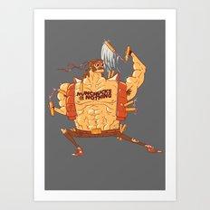 Nunchucks or Nothing! Art Print