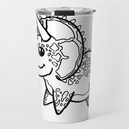 Triceratops Sketch Travel Mug