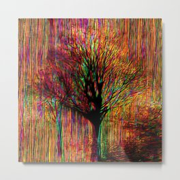 Abstract tree on a colorful background Metal Print