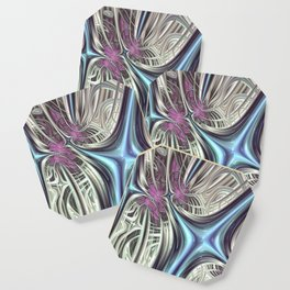 Cosmic Orchid - Fractal Art Coaster