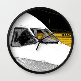 asc 698 - Le tarmac la nuit (Your flight was delayed due to technical problems) Wall Clock