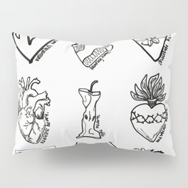 TYPES OF HEARTS Pillow Sham