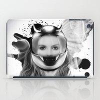harley iPad Cases featuring harley girl by mark ashkenazi