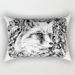 "Autumn fox. From the series ""Seasons"" Rectangular Pillow"