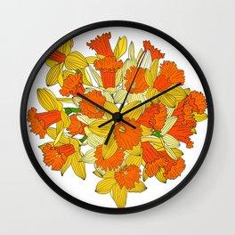Daffodil Bouquet Wall Clock