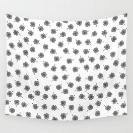 Light Gray Clover Wall Tapestry