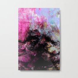 STORMY BLACK vs PINK-1 Metal Print