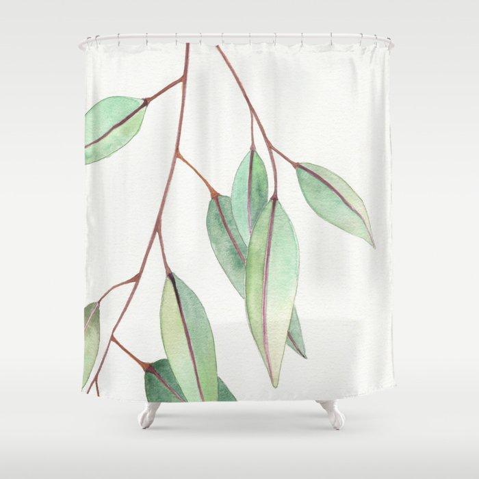 Eucalyptus Leaves One Shower Curtain