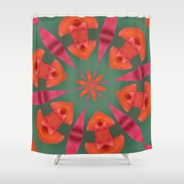 Succulent Red and Yellow Flower Abstract I Shower Curtain
