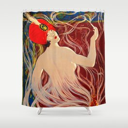 Vintage 1910 Cigarette Ad - Genie Shower Curtain