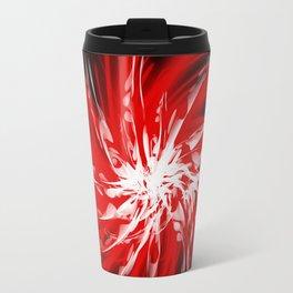 Dark Red Organic Spiral Travel Mug
