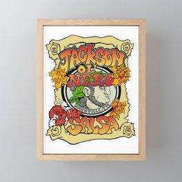 Jackson Ol' Nero Hot Salsa Label Framed Mini Art Print