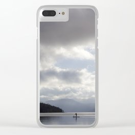 Early Morning Paddler on Vancouver Island Clear iPhone Case
