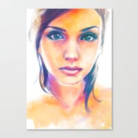 gravity Canvas Prints featuring Gravity by Alice X. Zhang
