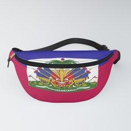 Haiti flag emblem Fanny Pack