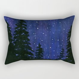 Twinkle, Twinkle, Stars Night Sky Painting Rectangular Pillow
