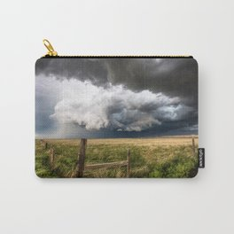 Aquamarine - Storm Over Colorado Plains Carry-All Pouch