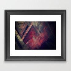 Pyramid Ablaze  Framed Art Print