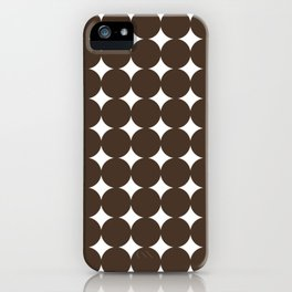 Midcentury Circles and Diamonds 15 iPhone Case