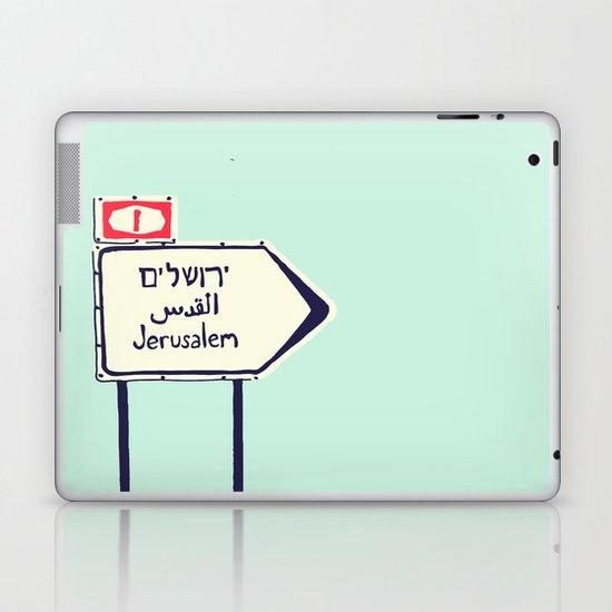 Jerusalem This Way Laptop & iPad Skin