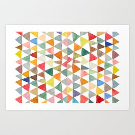 Triangle Tapestry Art Print