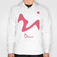 movie poster Hoodies featuring Drive - Movie Poster by ahutchabove