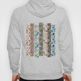 floral art collage Hoody