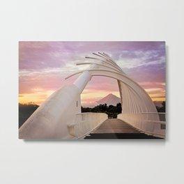 Mount Taranaki Framed Metal Print