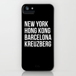 Kreuzberg The Place To Be iPhone Case