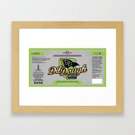 DilDough Beer Label Framed Art Print