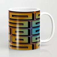labyrinth Mugs featuring Labyrinth by Fine2art