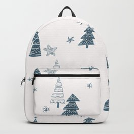 Hand Drawn Winter Forest Backpack