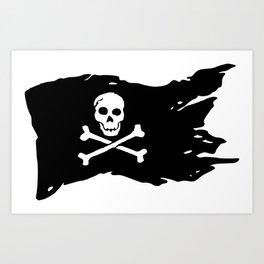 Ripped Pirate Flag Art Print